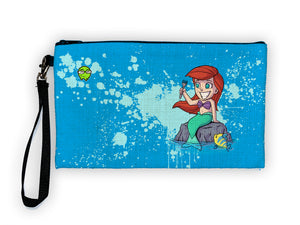 """Ariel"" Meents Illustrated Authentic Large Pencil/Device Bag"