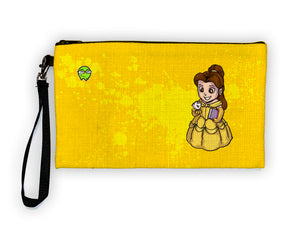 """Belle"" Meents Illustrated Authentic Large Pencil/Device Bag"