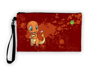 """Charmander"" Meents Illustrated Authentic Large Pencil/Device Bag"
