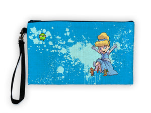 """Cinderella"" Meents Illustrated Authentic Large Pencil/Device Bag"