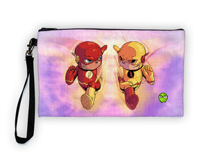 """Flash vs Zoom"" Meents Illustrated Authentic Large Pencil/Device Bag"