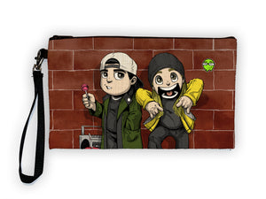 """Jay & Silent Bob"" Meents Illustrated Authentic Large Pencil/Device Bag"