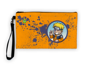 """Naruto"" Meents Illustrated Authentic Large Pencil/Device Bag"