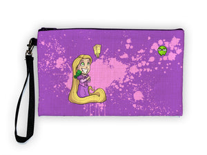 """Rapunzel"" Meents Illustrated Authentic Large Pencil/Device Bag"