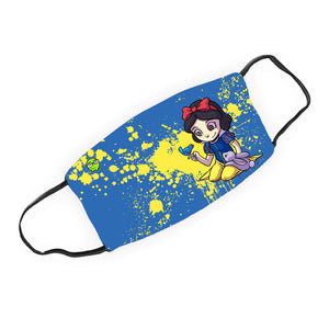 """Snow White"" - Meents Illustrated Authentic Design Face Mask"