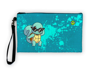 """Squirtle"" Meents Illustrated Authentic Large Pencil/Device Bag"