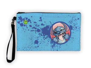 """Stitch"" Meents Illustrated Authentic Large Pencil/Device Bag"