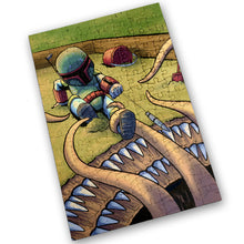 "Load image into Gallery viewer, ""Sarlacc Box"" - Meents Illustrated Authentic Design - 120 Piece Jigsaw Puzzle"