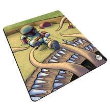 "Load image into Gallery viewer, ""Sarlacc Box"" Meents Illustrated Authentic Mouse Pad"