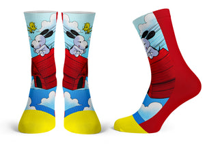 """Snoopy"" - Meents Illustrated Authentic Kids Socks"