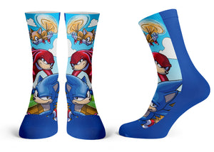 """Sonic"" - Meents Illustrated Authentic Kids Socks"