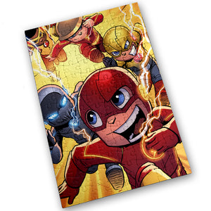 """Speed Force"" - Meents Illustrated Authentic Design - 120 Piece Jigsaw Puzzle"
