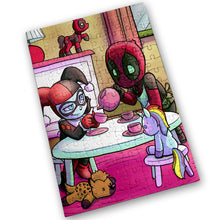 "Load image into Gallery viewer, ""Tea Party"" - Meents Illustrated Authentic Design - 120 Piece Jigsaw Puzzle"