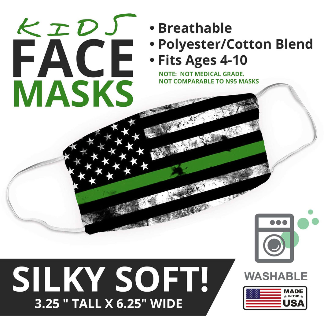 Thin Green Line - Military -  Face Mask - By JAX - JAXGFX