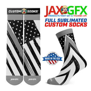 Thin Grey Line - Socks made by JAX