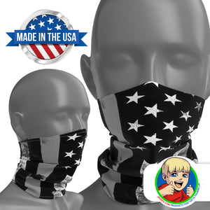 Thin Grey Line - Face Mask Neck Gaiter - Face Cover