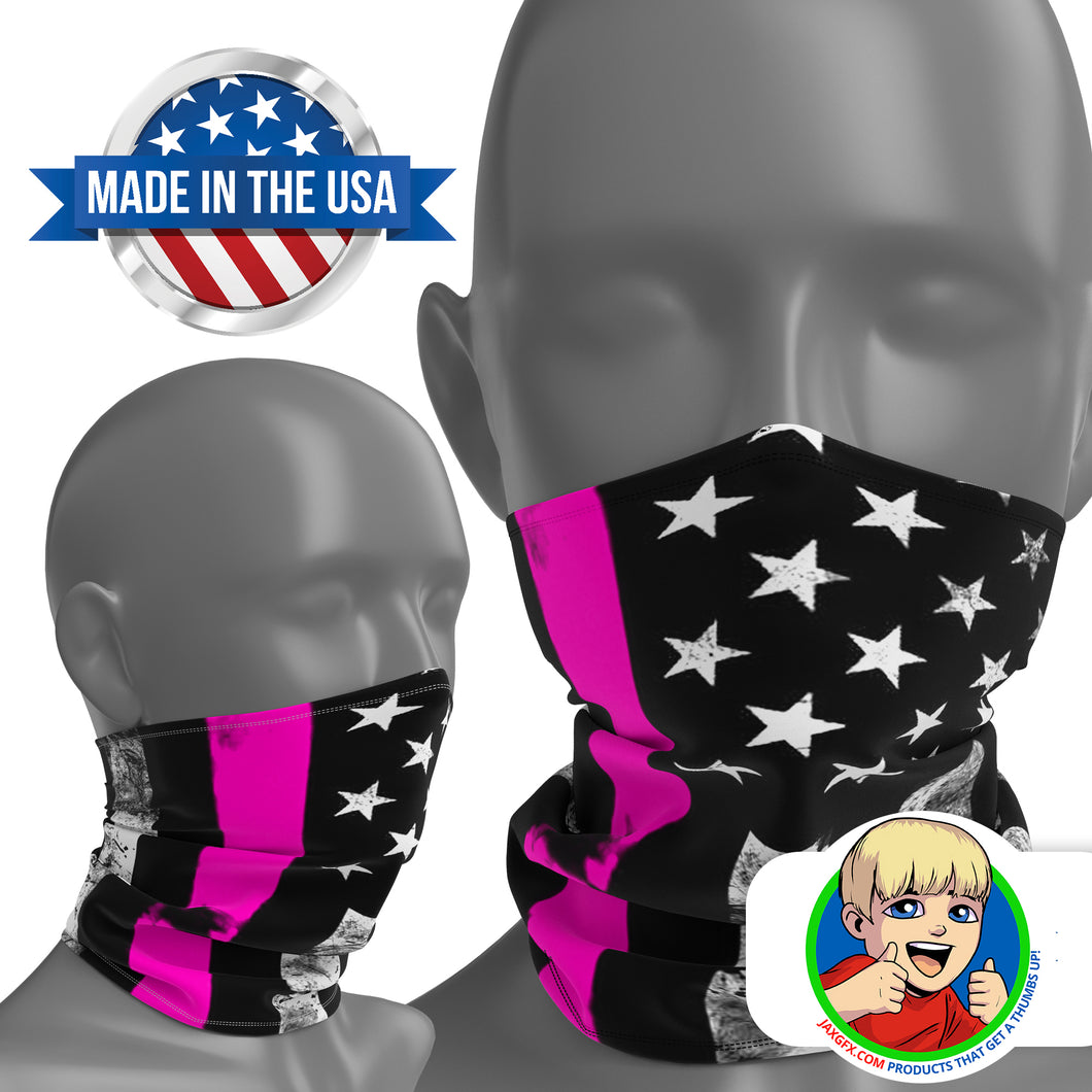 Thin Pink Line - Face Mask Neck Gaiter - Face Cover