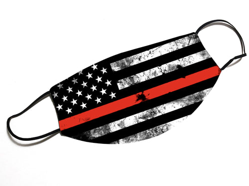 Thin Red Line - Fire Fighter -  Face Mask - By JAX - JAXGFX