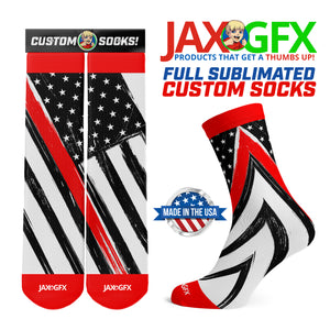 Thin Red Line - Socks made by JAX