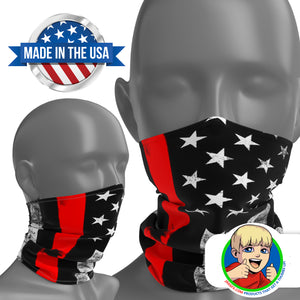 Thin Red Line - Face Mask Neck Gaiter - Face Cover