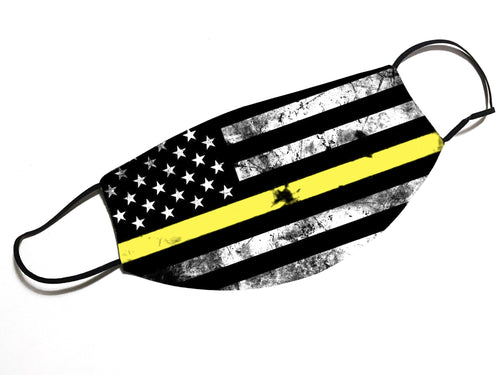 Thin Yellow Line - Dispatcher -  Face Mask - By JAX - JAXGFX