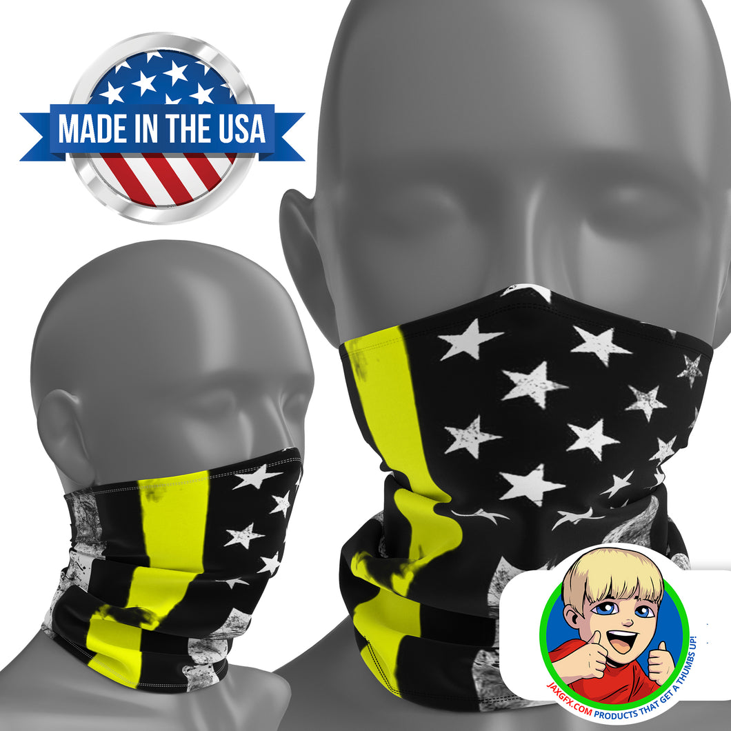 Thin Yellow Line - Face Mask Neck Gaiter - Face Cover