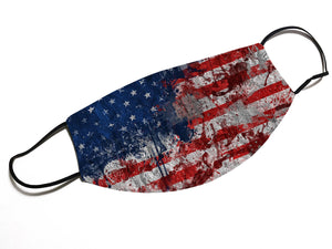 USA Flag Grunge Face Mask - By JAX - JAXGFX