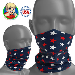 USA Flag Stars - Face Mask Neck Gaiter - Face Cover