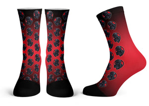 """Vader Pattern"" - Meents Illustrated Authentic Kids Socks"
