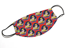 "Load image into Gallery viewer, ""Wonder Woman"" - Meents Illustrated Authentic Design Face Mask - JAXGFX"