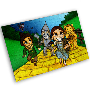 """Yellow Brick Road"" - Meents Illustrated Authentic Design - 120 Piece Jigsaw Puzzle"