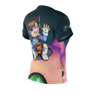 """DVA"" - Meents Illustrated Authentic - Full Sublimated Cut & Sew Tee - JAXGFX"