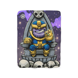 """Thanos"" 50""x60"" - Meents Illustrated Authentic - Sherpa Fleece Blanket"