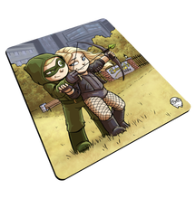 "Load image into Gallery viewer, ""Arrow & Canary"" Meents Illustrated Authentic Mouse Pad"