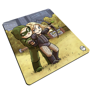 """Arrow & Canary"" Meents Illustrated Authentic Mouse Pad"