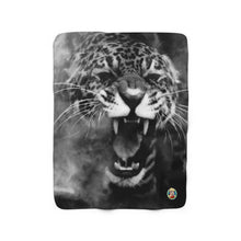 "Load image into Gallery viewer, ""ROAR"" - 50""x60"" Sherpa Fleece Blanket - JAXGFX"