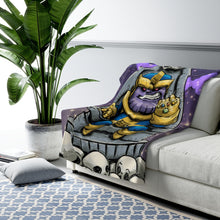 "Load image into Gallery viewer, ""Thanos"" 50""x60"" - Meents Illustrated Authentic - Sherpa Fleece Blanket"