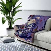 "Load image into Gallery viewer, ""Harley"" 50""x60"" - Meents Illustrated Authentic - Sherpa Fleece Blanket - JAXGFX"