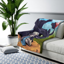 "Load image into Gallery viewer, ""Mother Of Dragons"" 50""x60"" - Meents Illustrated Authentic - Sherpa Fleece Blanket"