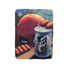 "Load image into Gallery viewer, ""Venom Jar"" 50""x60"" - Meents Illustrated Authentic - Sherpa Fleece Blanket - JAXGFX"