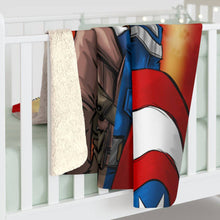 "Load image into Gallery viewer, ""CAP"" 50""x60"" - Meents Illustrated Authentic - Sherpa Fleece Blanket - JAXGFX"