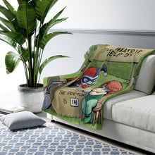 "Load image into Gallery viewer, ""Harley & Ivy"" 50""x60"" - Meents Illustrated Authentic - Sherpa Fleece Blanket - JAXGFX"