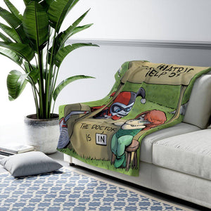 """Harley & Ivy"" 50""x60"" - Meents Illustrated Authentic - Sherpa Fleece Blanket - JAXGFX"