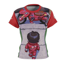 "Load image into Gallery viewer, ""Akira"" - Meents Illustrated Authentic - Full Sublimated Cut & Sew Tee - JAXGFX"