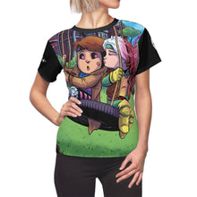 "Load image into Gallery viewer, ""Gambit & Rogue"" - Meents Illustrated Authentic - Full Sublimated Cut & Sew Tee - JAXGFX"