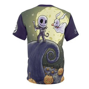 """Jack & Zero"" - Meents Illustrated Authentic - Full Sublimated Cut & Sew Tee - JAXGFX"