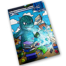"Load image into Gallery viewer, ""Godzilla"" - Meents Illustrated Authentic Design - 120 Piece Jigsaw Puzzle"