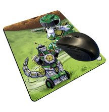 "Load image into Gallery viewer, ""Green Ranger"" Meents Illustrated Authentic Mouse Pad"