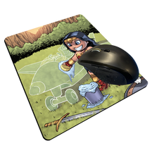 "Load image into Gallery viewer, ""Invisible Jet"" Meents Illustrated Authentic Mouse Pad"