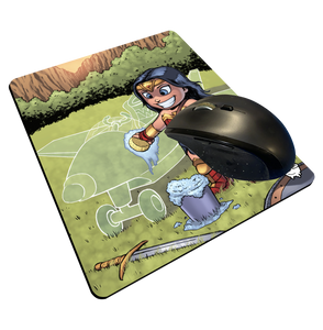"""Invisible Jet"" Meents Illustrated Authentic Mouse Pad"